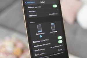 iphone iOS15 Safari nastaveni