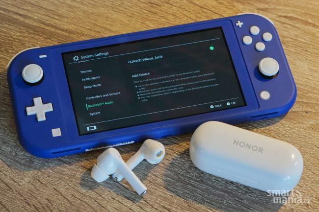 nintendo switch lite konzole console bluetooth sluchatka 1