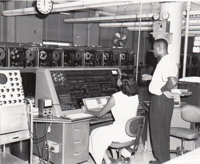 Univac I at Census Bureau with two operators